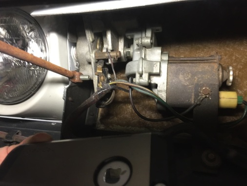 Repaired Ignition Wiring Harness Installed On Back Of New D9 Bracket