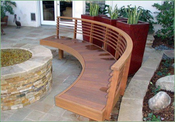 Wood trim finish bench Redondo Beach