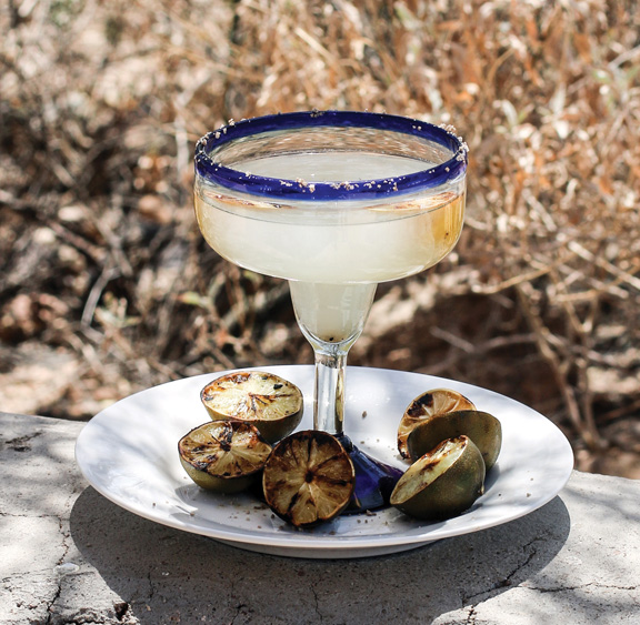 Grilled Lime Margarita with Mesquite Smoked Salt from Vegan Tacos by Jason Wyrick
