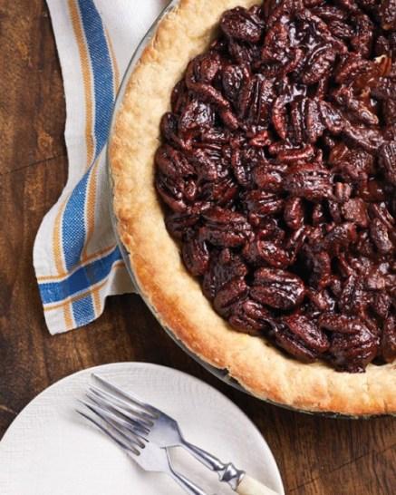 Chocolate Pecan Pie from Vegan Chocolate by Fran Costigan. Photo ©Kate Lewis