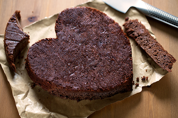 Fran Costigan's Easy Heart-Shaped Chocolate Cake