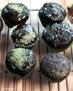 Chocolate Beer Cupcakes for Saint Patrick's Day