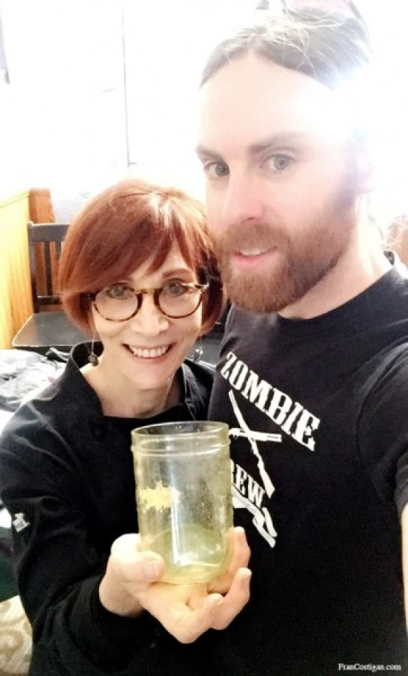 Fran with Chris from The Vegan Zombie