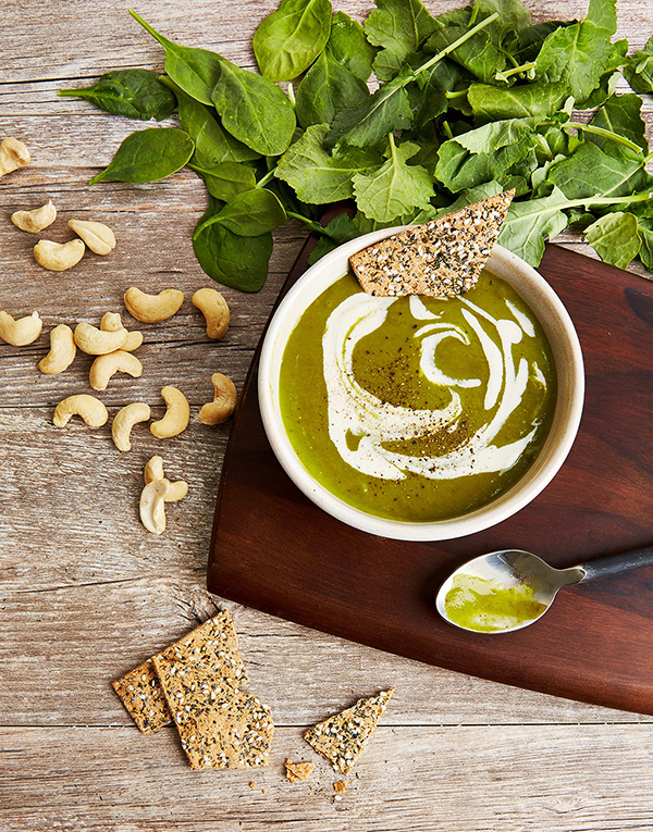 Velvety Kale Soup with Cashew Cream