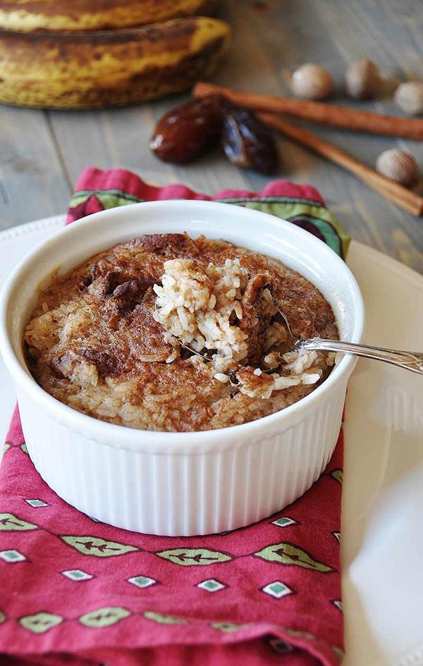 Veganosity's Vegan Nog Rice Pudding