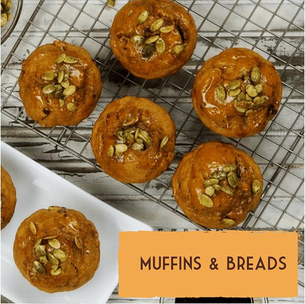 Healthy vegan dairy-free dessert recipes muffins breads