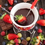 Fran Costigan's Vegan Chocolate Ganache Fondue is the perfect dessert for Valentine's Day