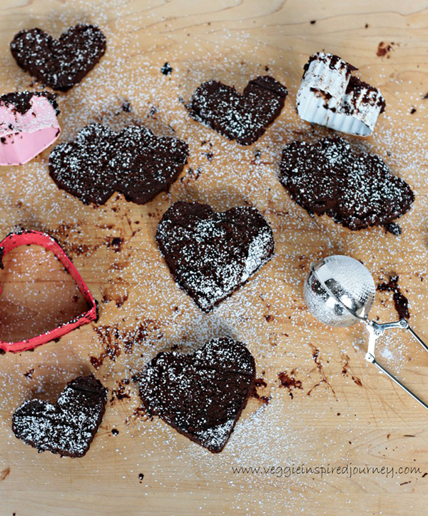 Veggie Inspired Journey's Fudgy Mocha Black Bean Brownie Hearts