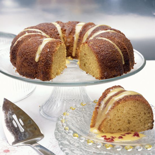 Big Orange Vegan Bundt Cake for Easter