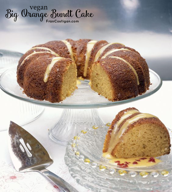 Fran Costigan's Vegan Big Orange Bundt Cake for Easter