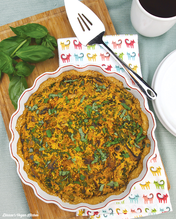Spinach Mushroom Quiche from What's for Breakfast by Dianne Wenz