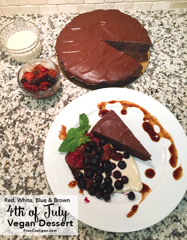 Red, White, Blue, and Brown 4th of July Vegan Dessert