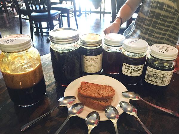 sorghum molasses tasting in Chapel Hill NC