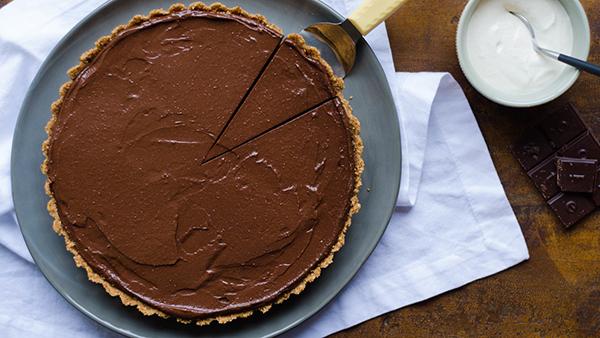 Raw Vegan Chocolate Ganache Torte