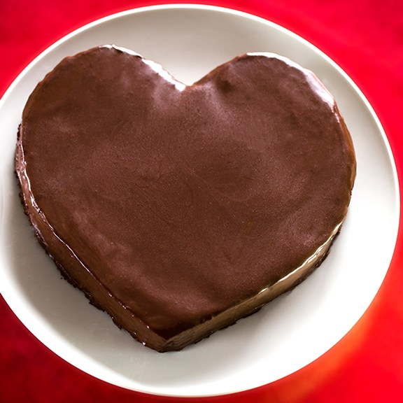 Fran Costigan's Heart Shaped Chocolate Cake to Live For