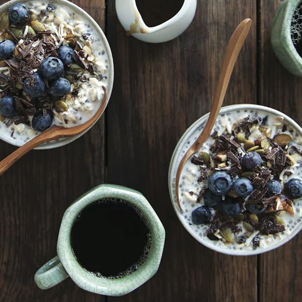 Fran Costigan's Super-Healthy Nibby Chia Breakfast Sundae (vegan and gluten-free)