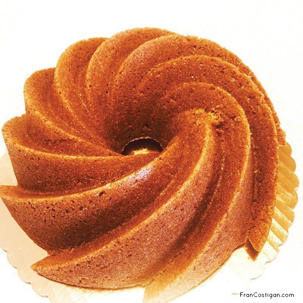 Fran Costinga's vegan Orange Almond Bundt Cake (dairy-free, egg-free)