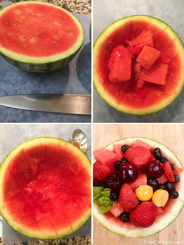 Making a Watermelon Sundae