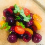 Macerated Sweet Red Cherries and Mixed Cherry Tomatoes