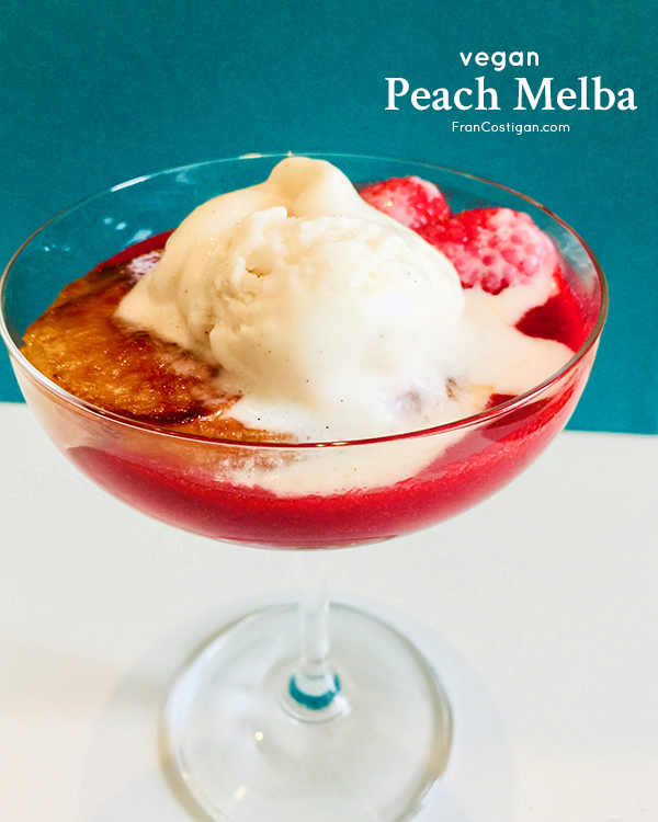Fran Costigan's Vegan Peach Melba (gluten-free, dairy-free, oil-free)