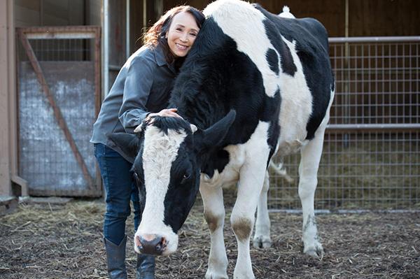 Miyoko Schinner at Rancho Compassion Animal Sanctuary