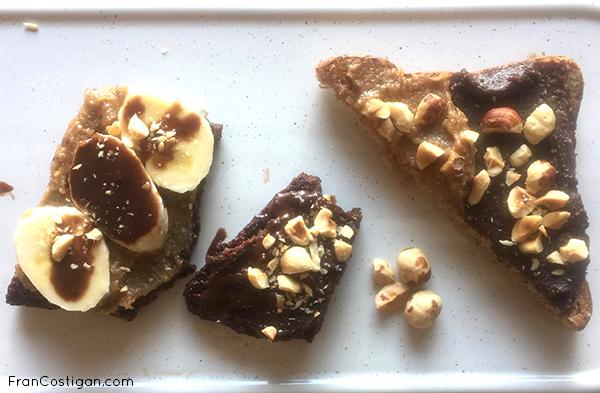 2 Ingredient Vegan Nutella Blondie on toast