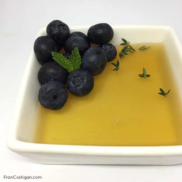 fruit soup in bowl with berries