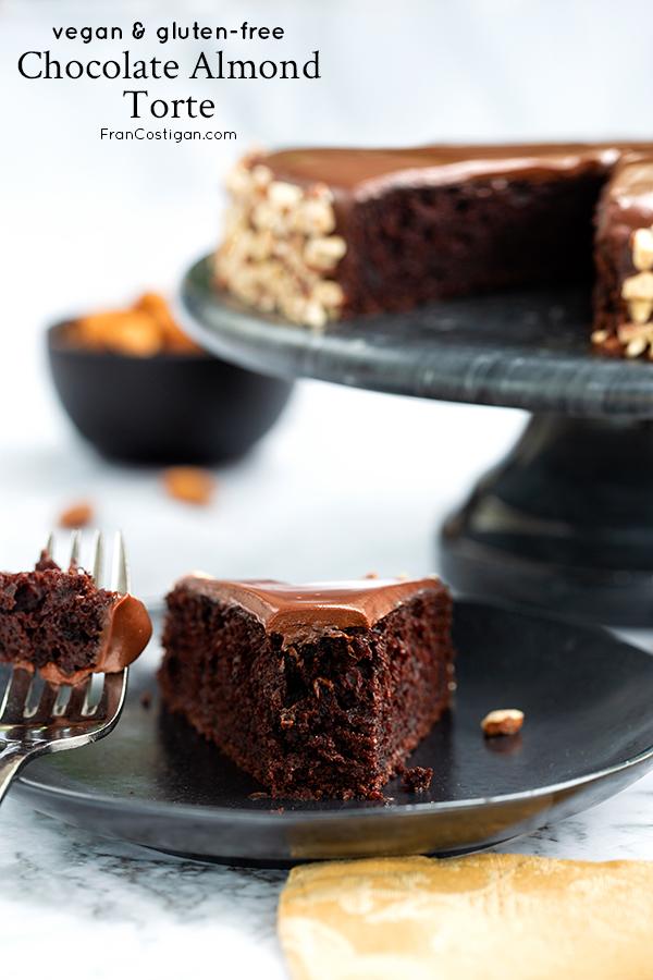 slice of Gluten-Free Chocolate Almond Torte