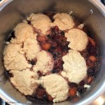 Vegan Mixed Fruit Grunt ready to steam