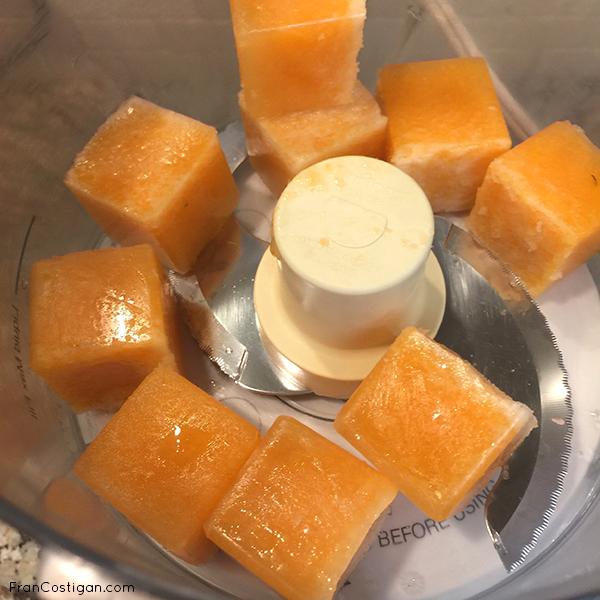 Frozen Cantalope Cubes