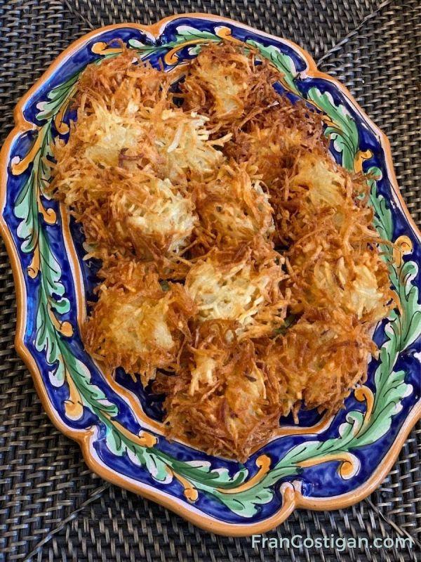 Vegan Potato Latkes with Flax egg-replacer gel