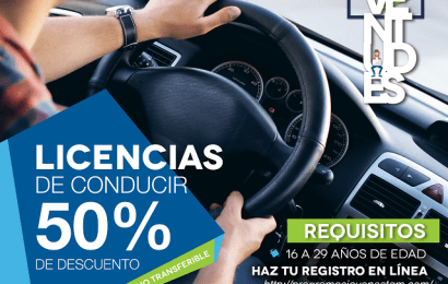 Gobierno del Estado Ofrece 50% de Descuento en Licencias de Conducir a Jóvenes de 16 a 29 Años de Edad