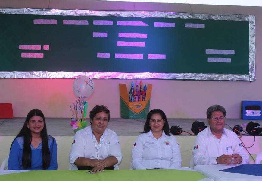 Atestiguan Autoridades Municipales Celebración de Aniversario de Escuela Primaria