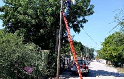 Revisan y Reparan Lámparas dañadas del alumbrado público