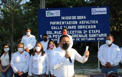 En el Mante el Alcalde Noé Ramos Pone en Marcha Pavimentación a 3 de 30 Calles