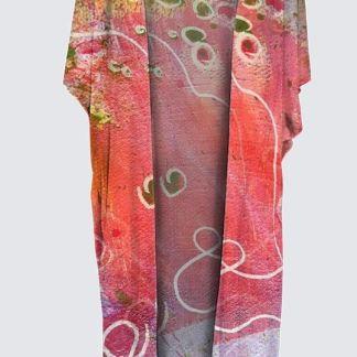 YK Kimono robe : Encore des lucioles