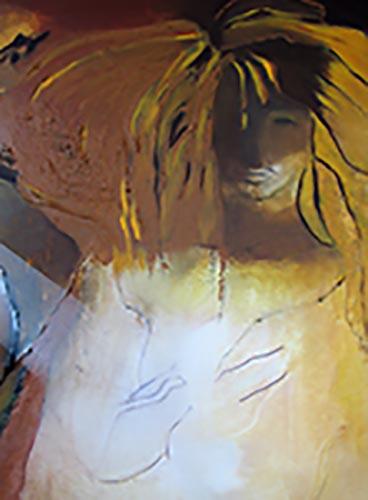 peinture acrylique Au coeur du rêve