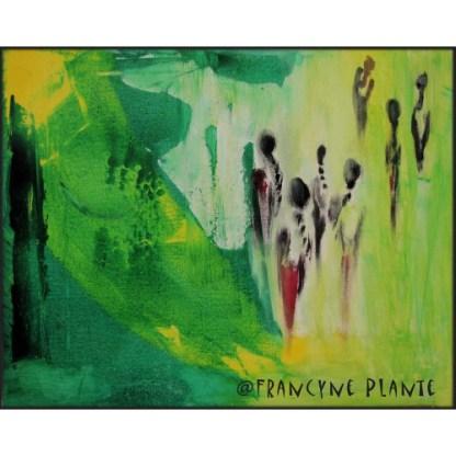 Peinture acrylique Ces femmes en moi