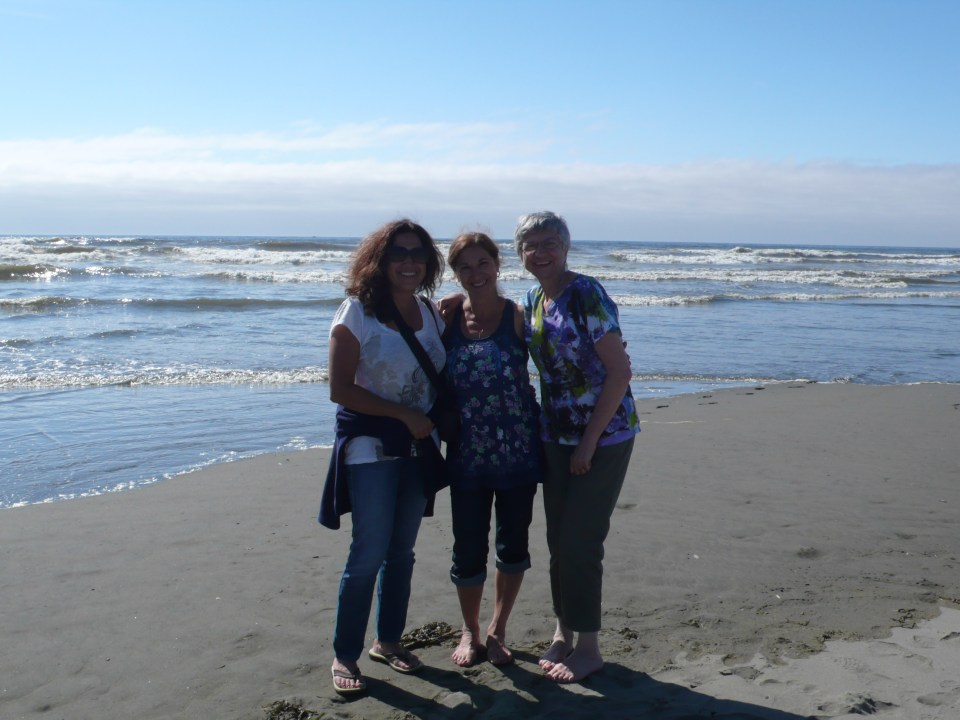Fran, Nora, and Toni at Ocean Shores, WA 2013