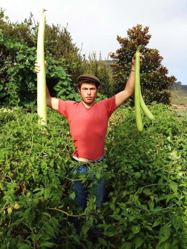 Gotta love this photo of this Siciliano holding up his cucuzze!