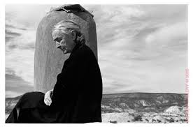 A contemplative Georgia O'Keeffe