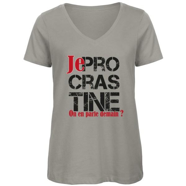 """T-shirt """"Je Procrastine"""" par le Frangotier - Gris"""