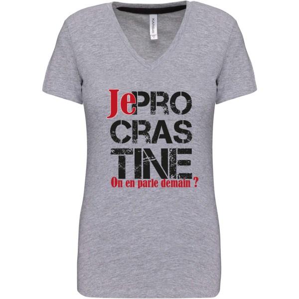 """T-shirt """"Je procrastine"""""""