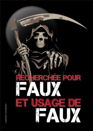 Poster A3+ «Faux et usage de faux»