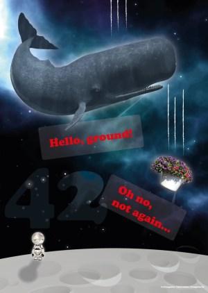 Poster A3+ «Guide galactique – cachalot et pétunias»