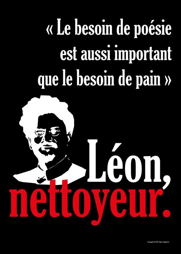 "Poster ""Léon, nettoyeur"", Trotsky"