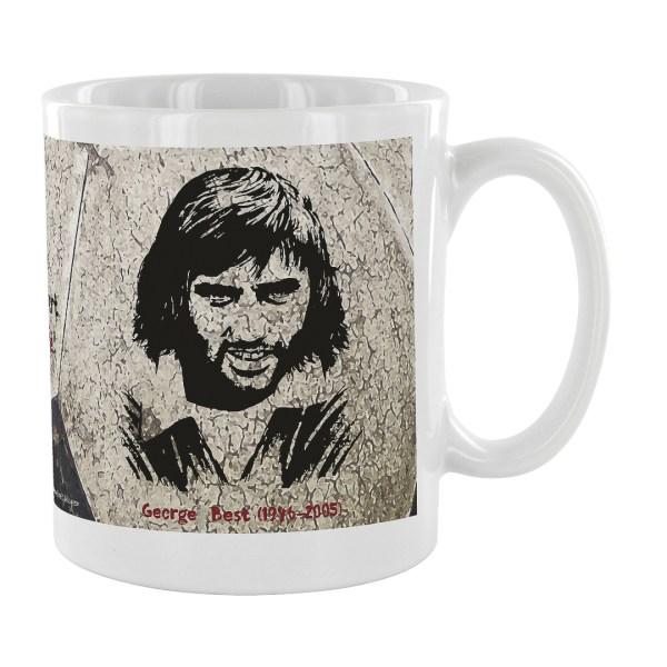 """Mug citation George Best """"J'ai claqué beaucoup d""""argent..."""""""