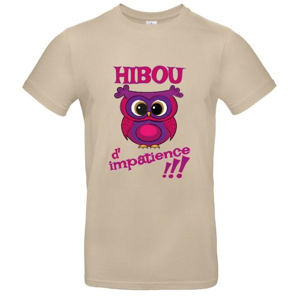 """T-shirt adulte """"Hibou d'impatience"""""""