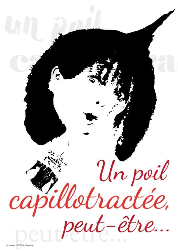 "Poster ""Un poil capillotractée..."""