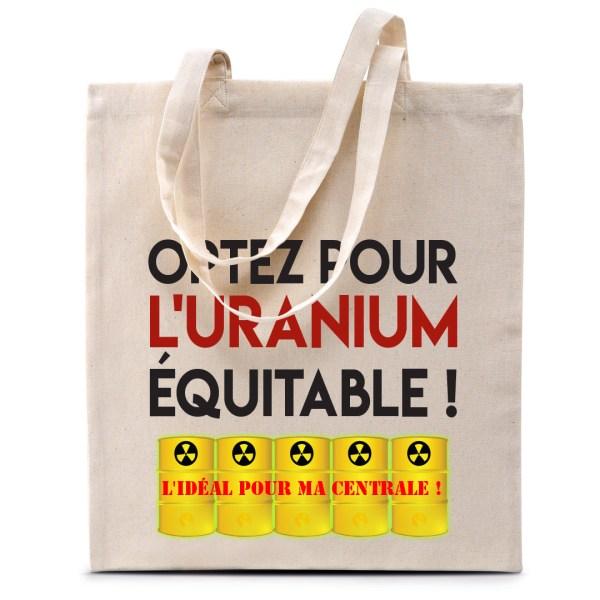 """Tote bag """"Optez pour l'Uranium équitable"""""""